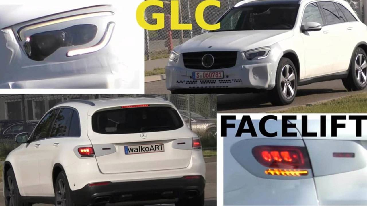 2019 Mercedes GLC facelift screenshot from spy video