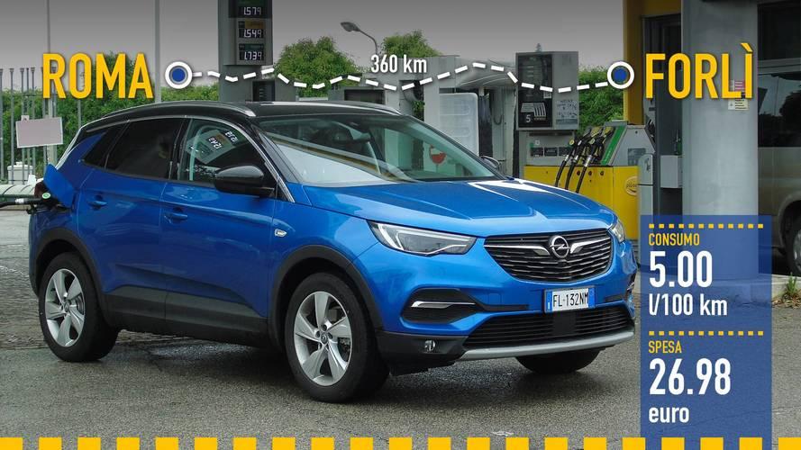Opel Grandland X, la prova dei consumi reali