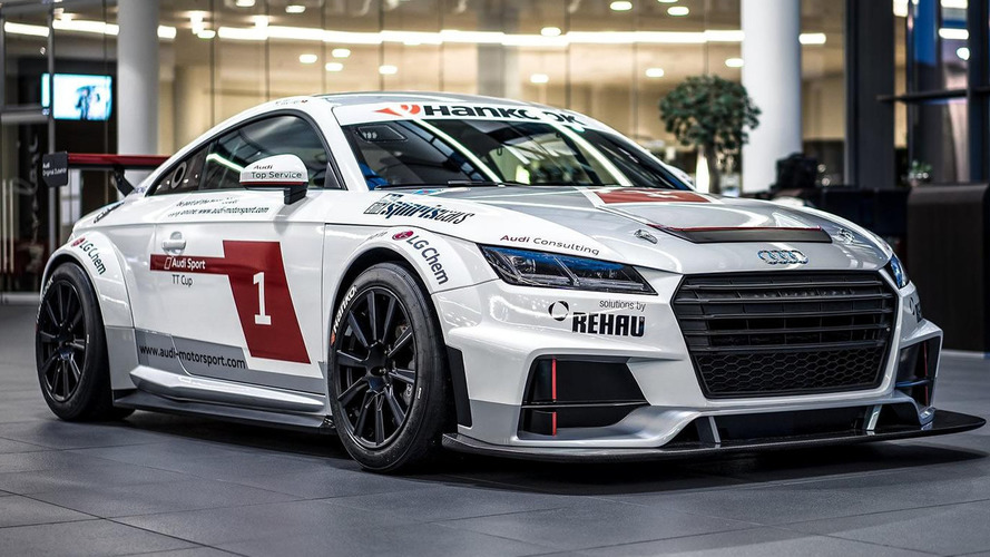 Audi TT Cup stars in photo shoot at Audi Forum Neckarsulm