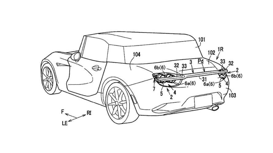 Mazda Patents Deployable Rear Wing That Nestles Into Taillights