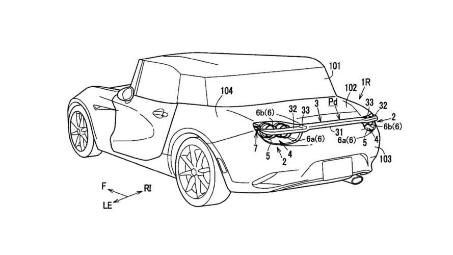 Mazda patenta un novedoso alerón trasero desplegable