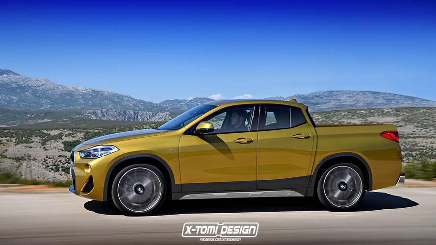 BMW X2 Pick-up / Cabrio renders