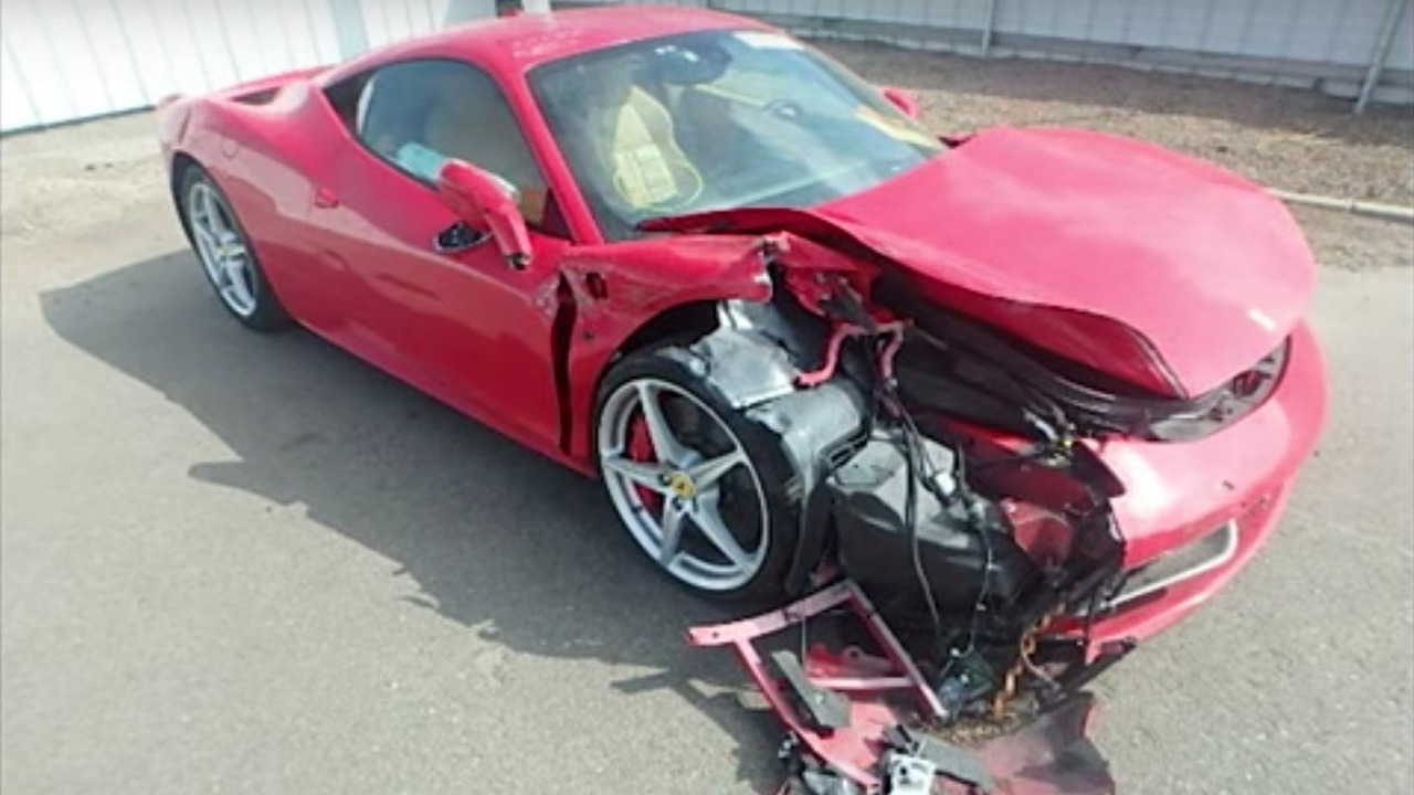 Crash Ferrari 458 Italia