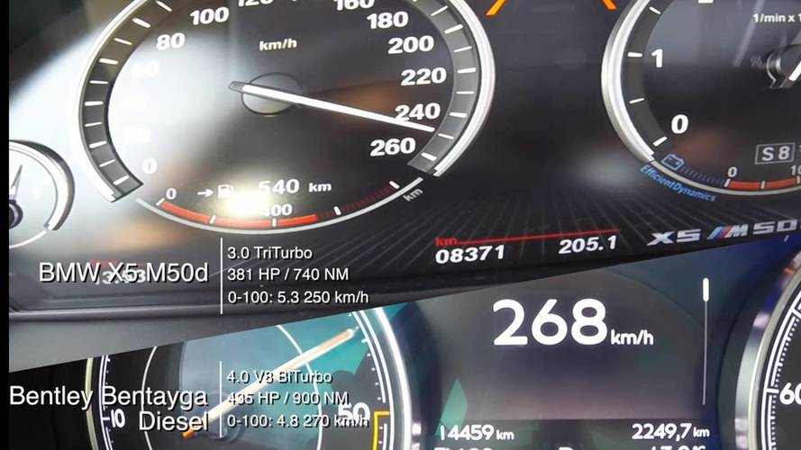 BMW X5 M50d, Bentley Bentayga Diesel Battle In Acceleration Duel