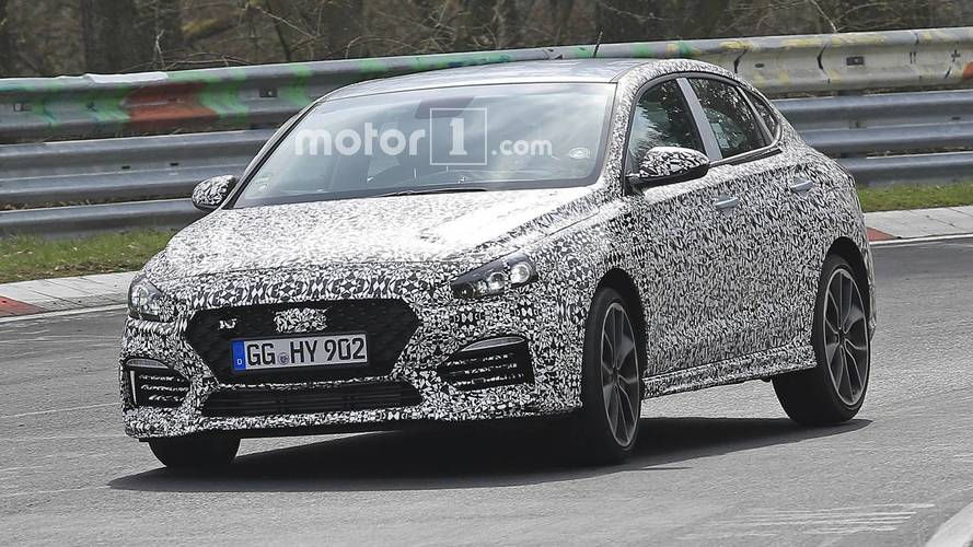 Hyundai i30 N Fastback Spied Being Pushed Hard At The Nurburgring
