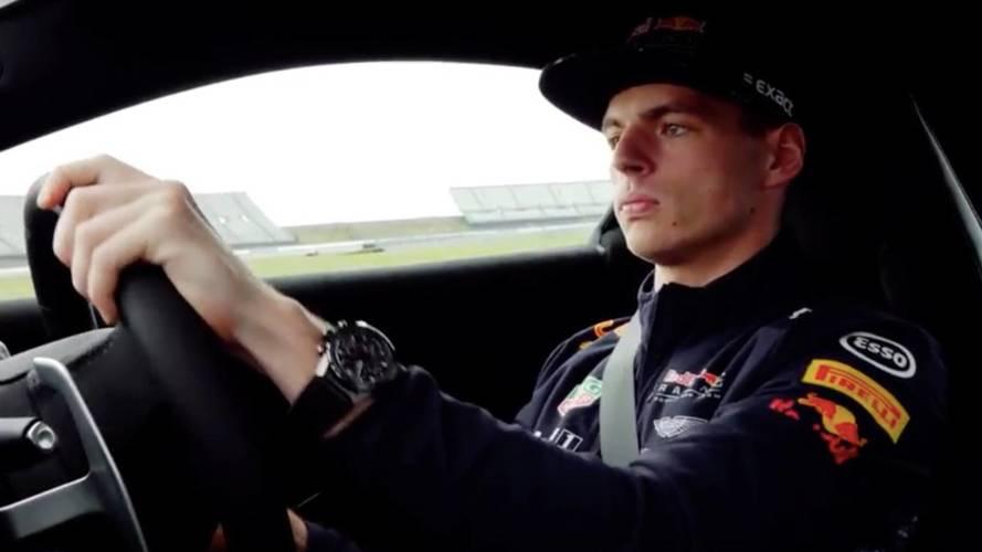 Max Verstappen yeni Vantage ile buluştu