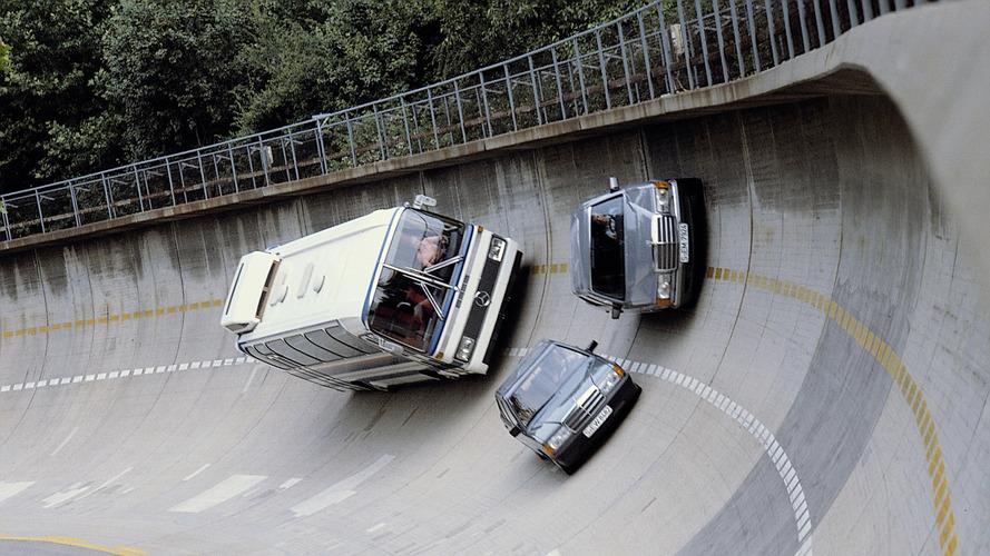 Mercedes-Benz'ın yatık yola sahip test pisti 50 yaşında