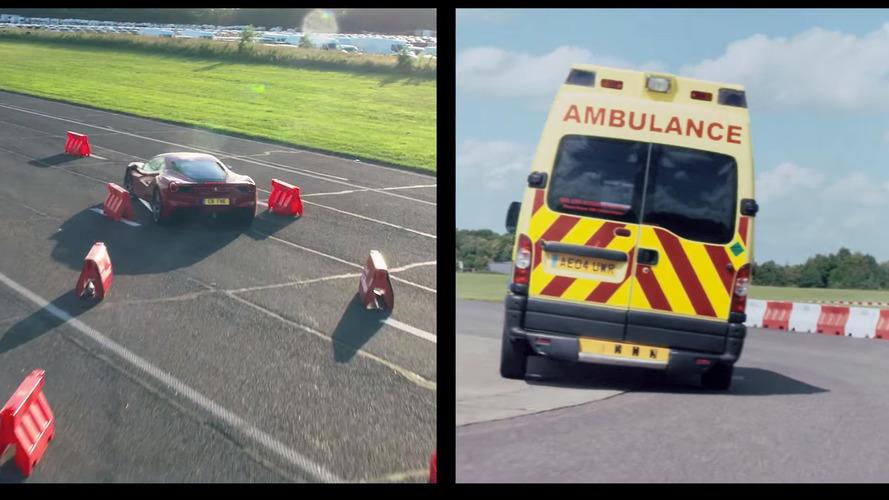 Ambulans şoförü Vettel, Ferrari 488 GTB'ye karşı!
