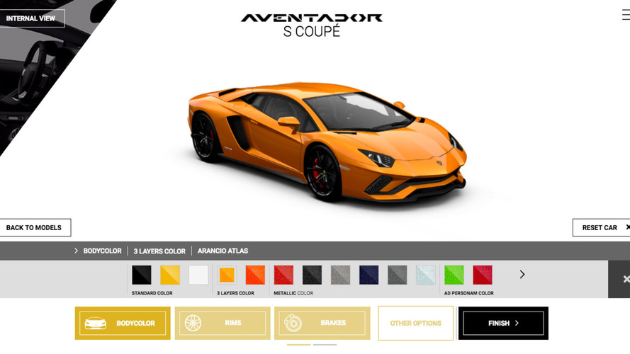 Configurez votre Lamborghini Aventador S !