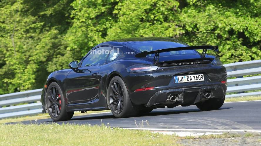 See The Porsche 718 Cayman GT4 Facelift In 22 Fresh Spy Photos