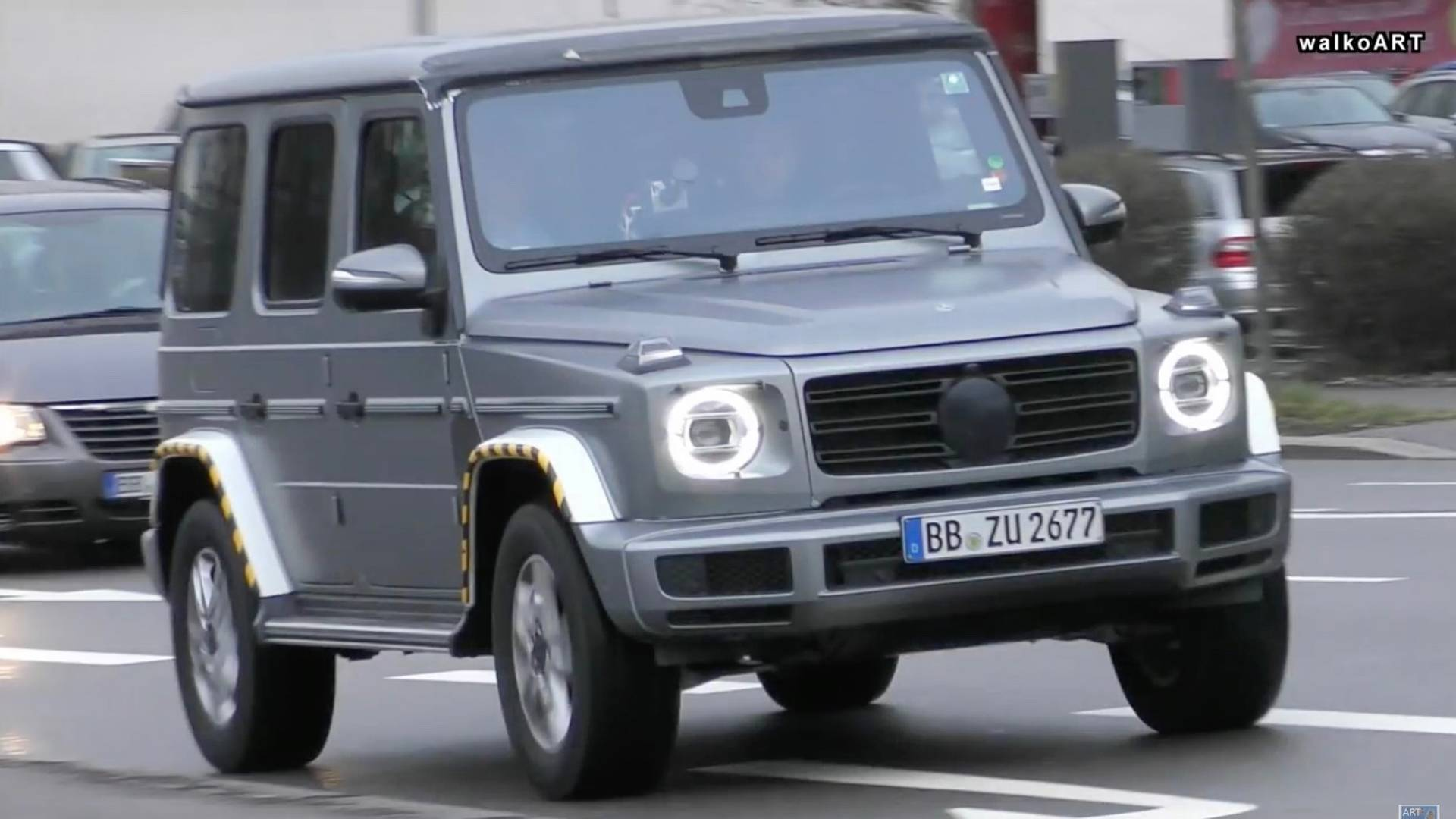 The New Mercedes G Class Looks Imposing The Road