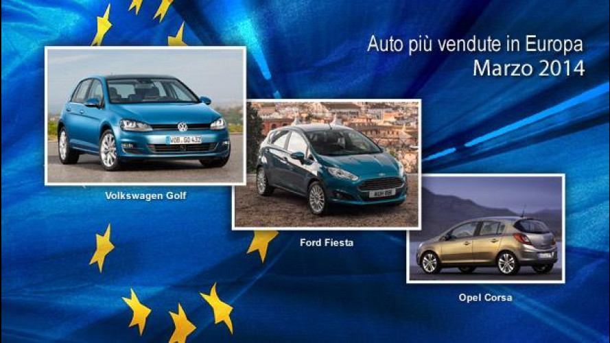 Le auto più vendute in Europa: la classifica di marzo