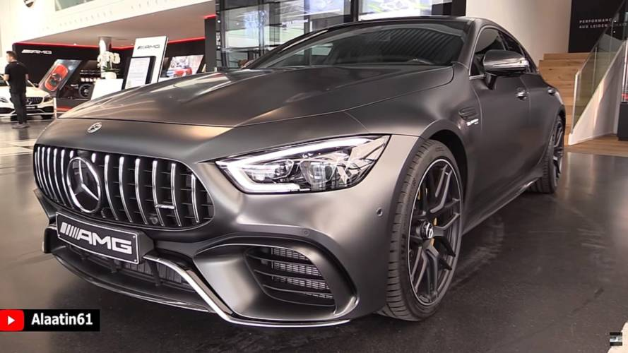 AMG GT 4-Door Coupe looks fast standing still in walkaround video