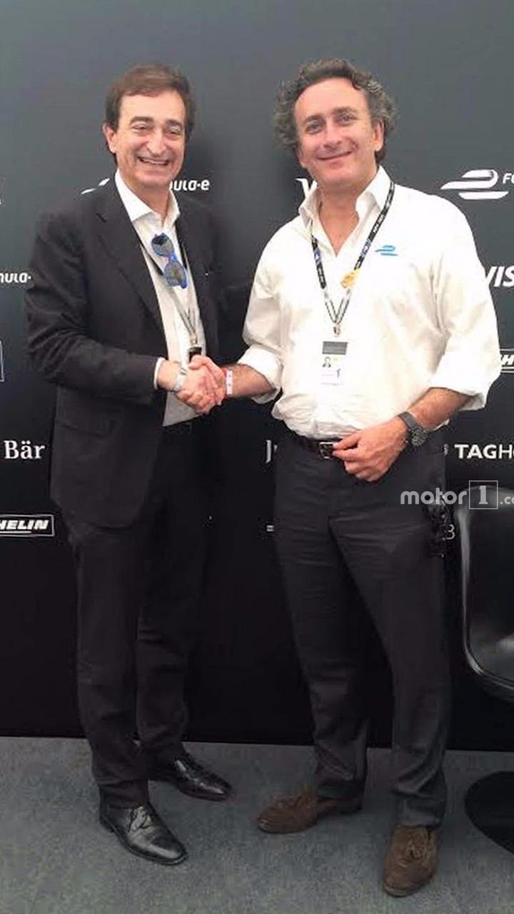 Alejandro Agag, Formula E CEO, and Marco Borradori, Lugano Mayor ...