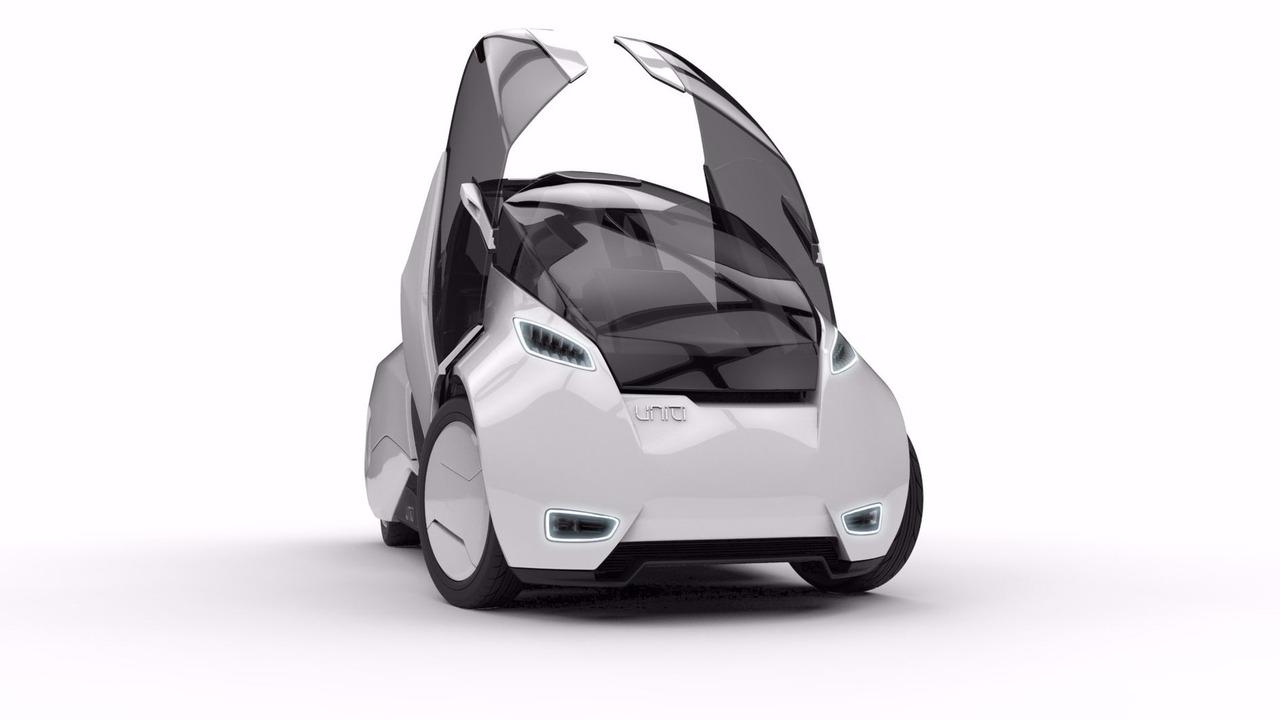 Uniti üç tekerlekli elektrikli otomobil