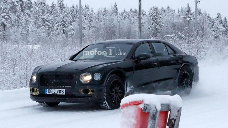 Photos espion - Tests hivernaux pour la future Bentley Flying Spur