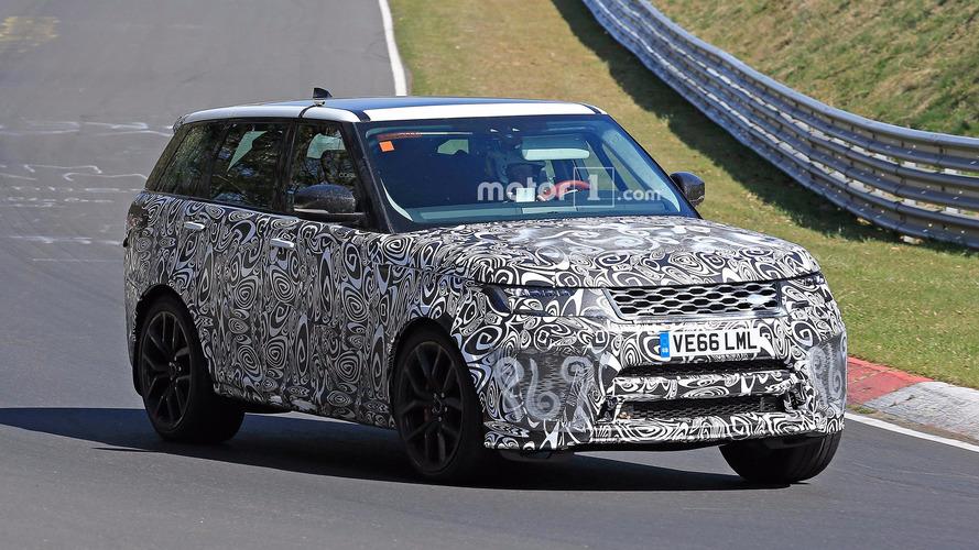 Photos espion - Le Range Rover Sport SVR restylé sur le Nürburgring