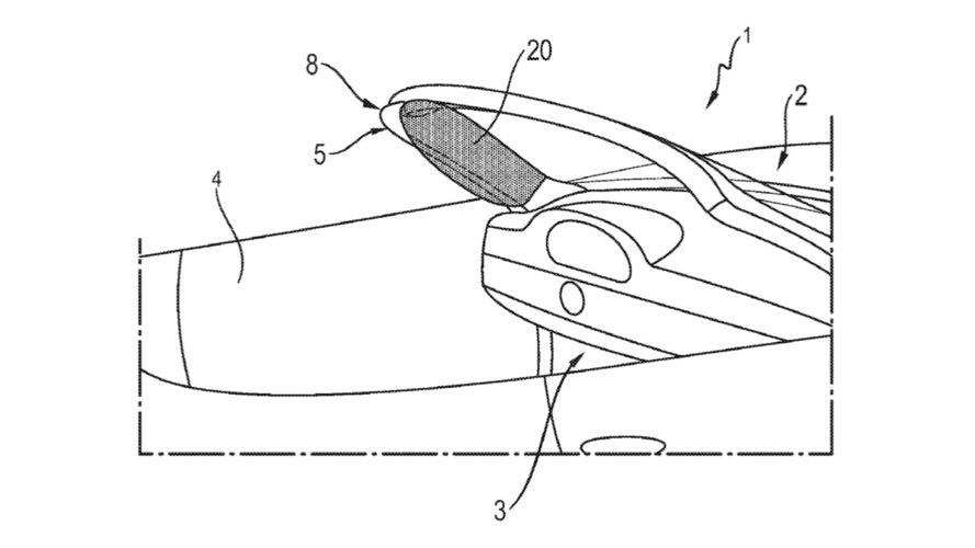 Porsche'nin convertible'lar için hava yastığı patenti