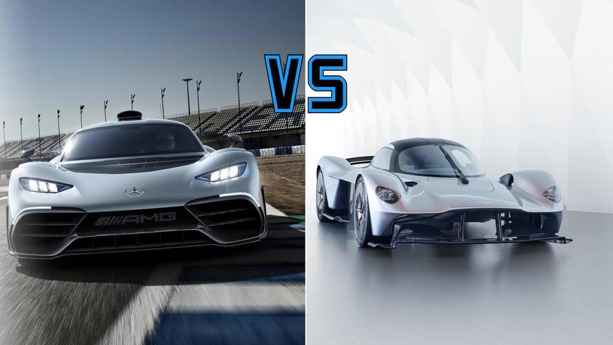 Hiperautók harca: Mercedes-AMG Project One vs. Aston Martin Valkyrie