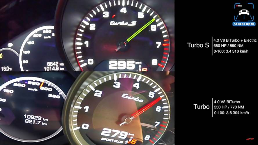 Porsche Panamera Turbo Vs Turbo S E-Hybrid In Acceleration Duel