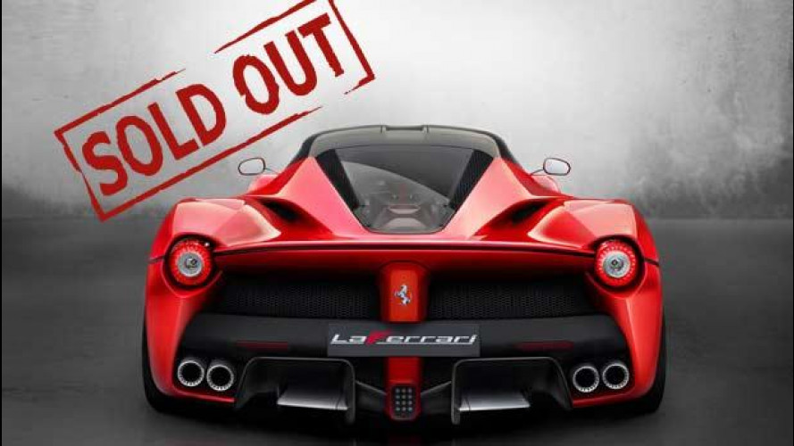 Ferrari LaFerrari, venduti tutti i 499 esemplari