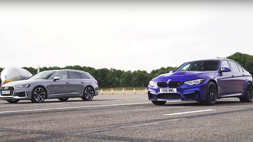 Wagon Vs Sedan: BMW M3 CS Drag Races Audi RS4 Avant