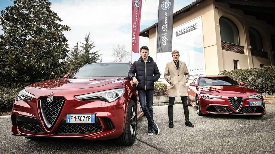 Az Alfa Romeo Sauber versenyzői közúton is Ferrariról álmodnak