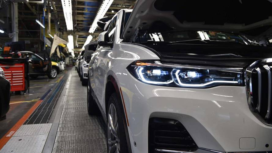 Pre-production BMW X7s readied in the US