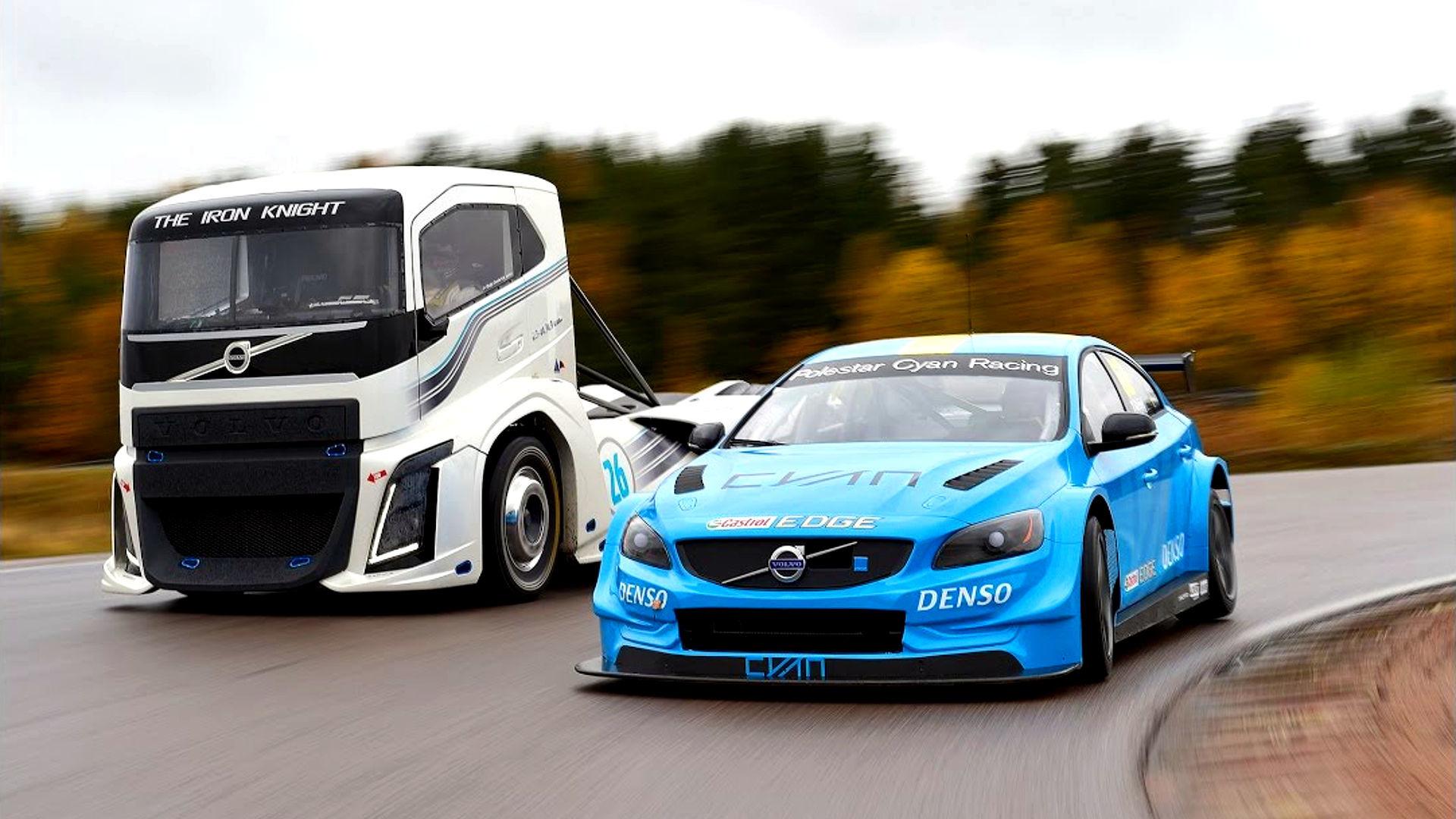 Volvo\'s 2,400-hp semi truck and S60 Polestar race car go head-to-head