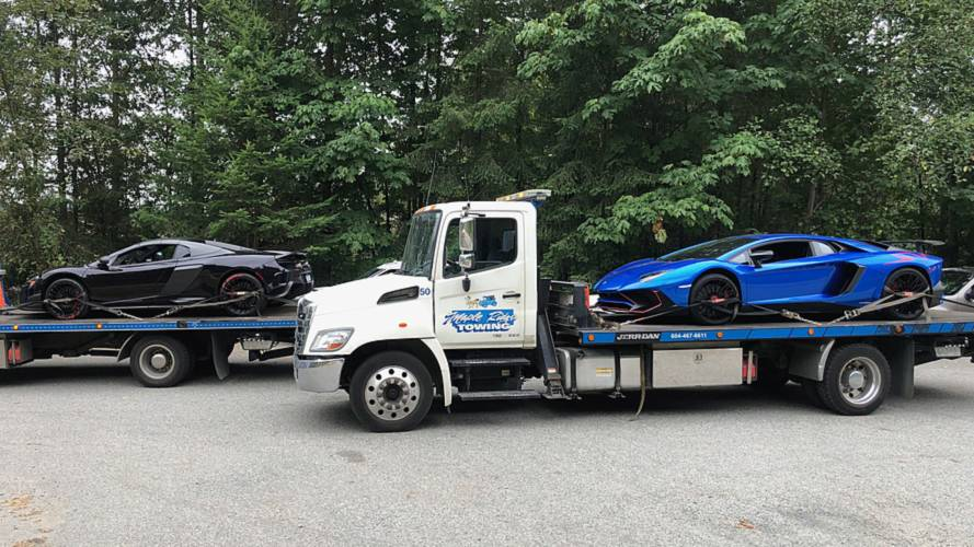 Speeding Aventador SV And 675LT Impounded While Heading To Track