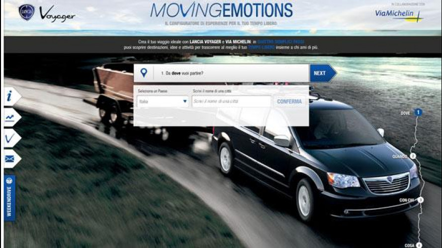 Lancia Voyager configura viaggi online