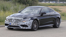 Mercedes-AMG C63 Coupe facelift spy photos