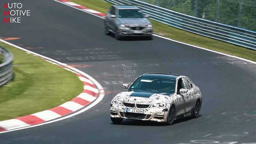 Sporty BMW 3 Series Spied Riding Curbs At The Nürburgring