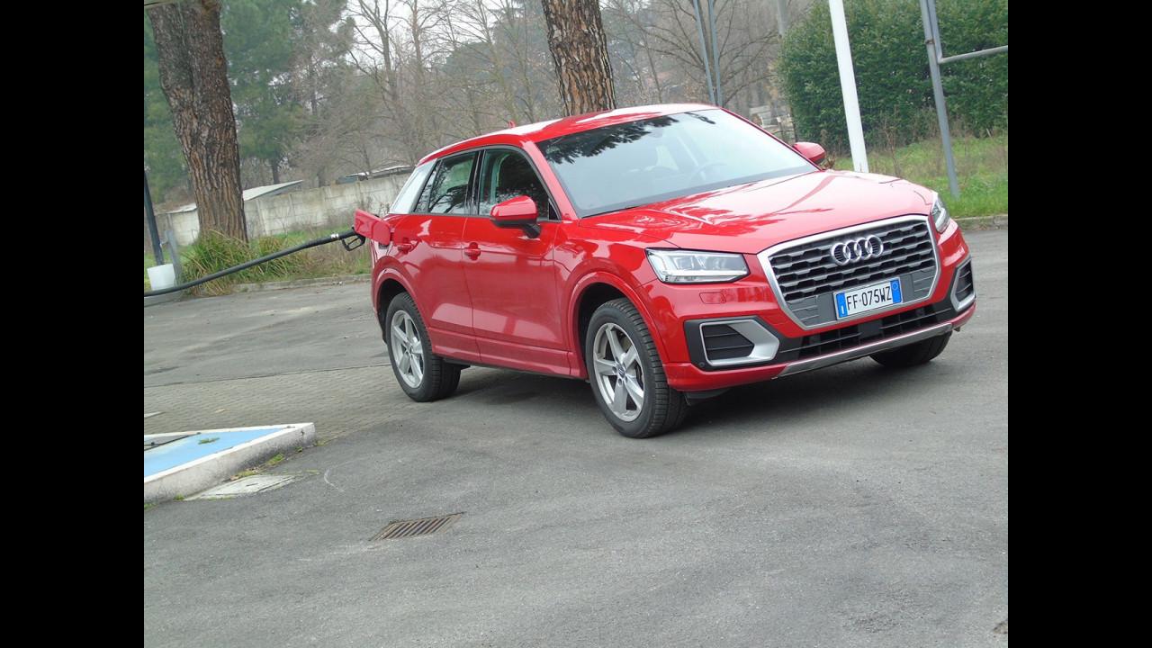 Audi Q2 1.4 TFSI, test di consumo reale Roma-Forlì