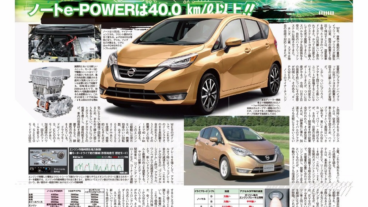 Nissan Note e-Power 2017