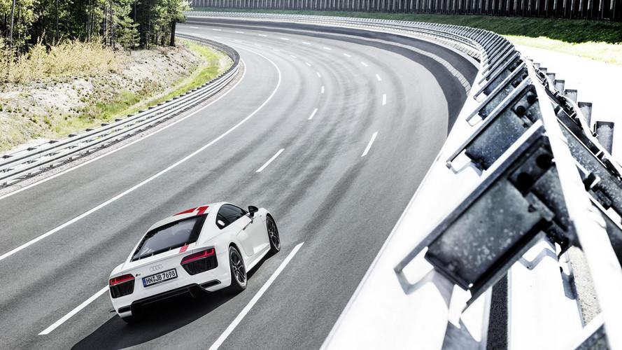 Audi R8 Coupé V10 RWS: estrella de un anuncio de publicidad