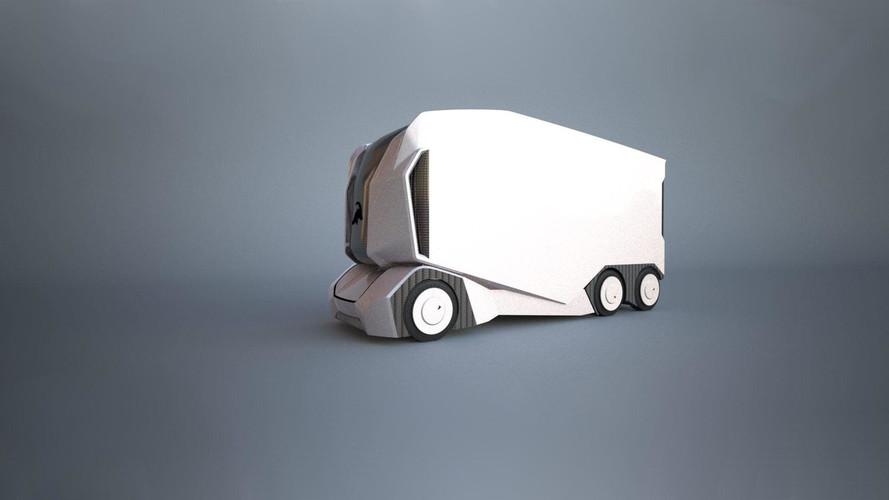 Bu otonom elektrikli kamyonda insana yer yok