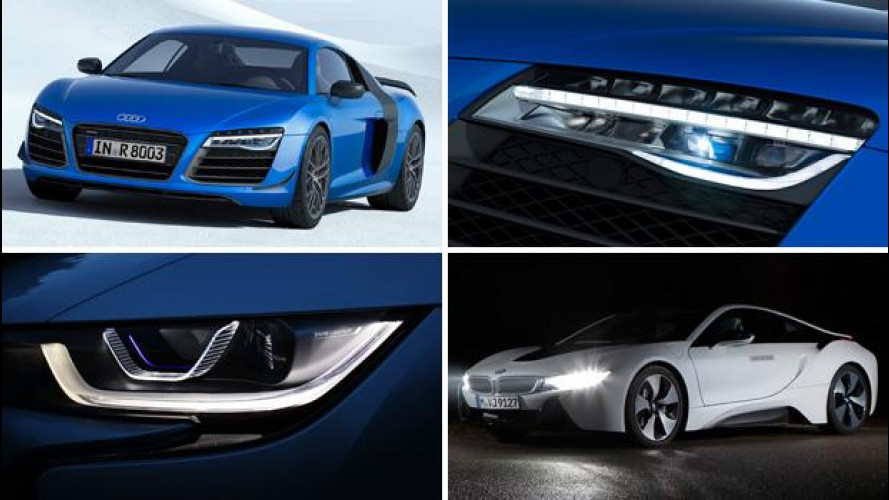 Audi e BMW, sfida a colpi di laser