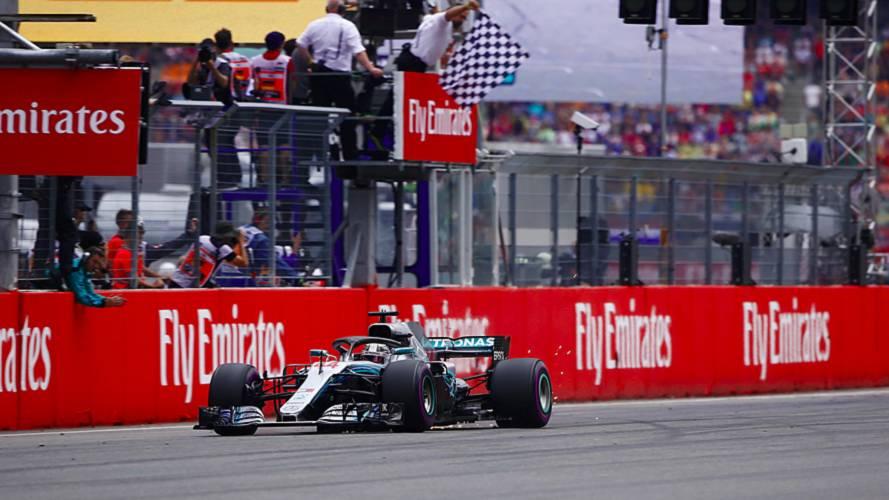2018 Almanya GP: Hamilton 14. sıradan yarışı kazandı.