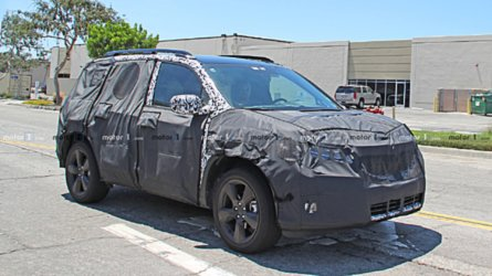 Honda Passport Spied Still Hiding Under Heavy Camouflage