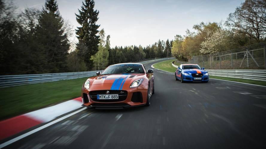Los Jaguar F-TYPE SVR y XJR575 te esperan en Nürburgring