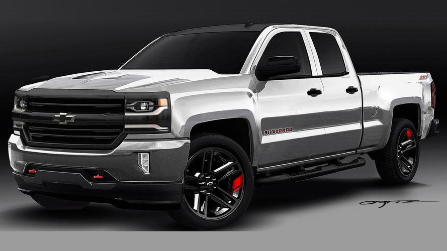 Chevrolet Colorado & Silverado 1500 Red Line Series concepts teased