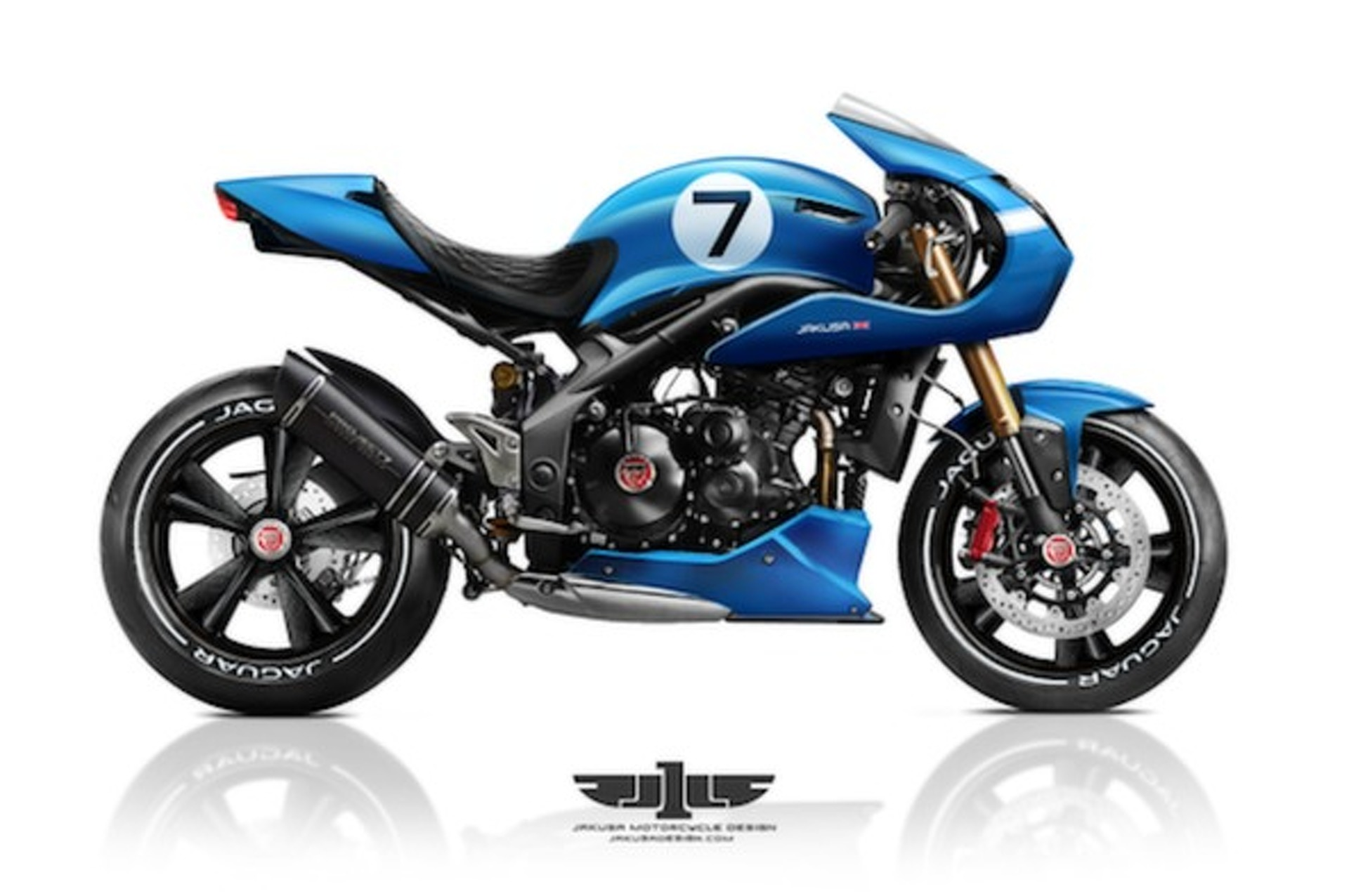 Jaguar Project 7 Motorcycle Concept is Stunningly Beautiful