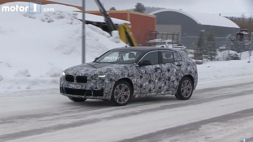 BMW X2 spied on video in winter workout