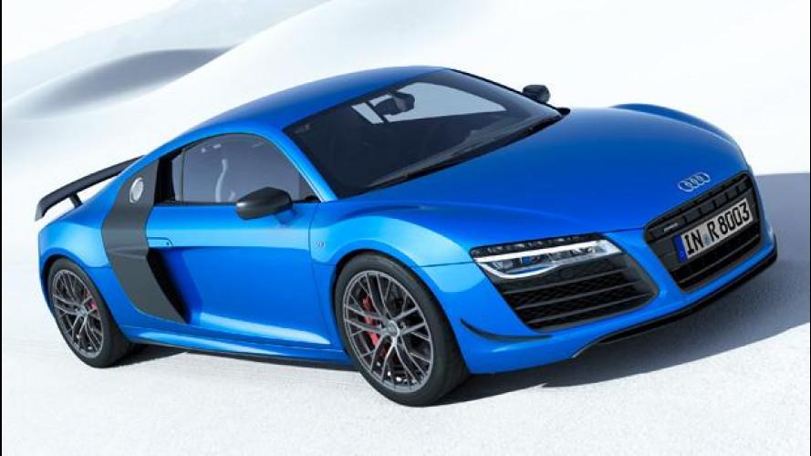 Audi R8 LMX, più potente e con fari laser
