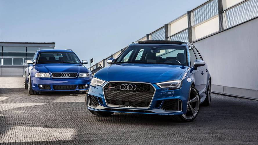 Comparativa RS: Audi RS 3 Sportback 2018 vs. Audi RS 4 Avant 2001