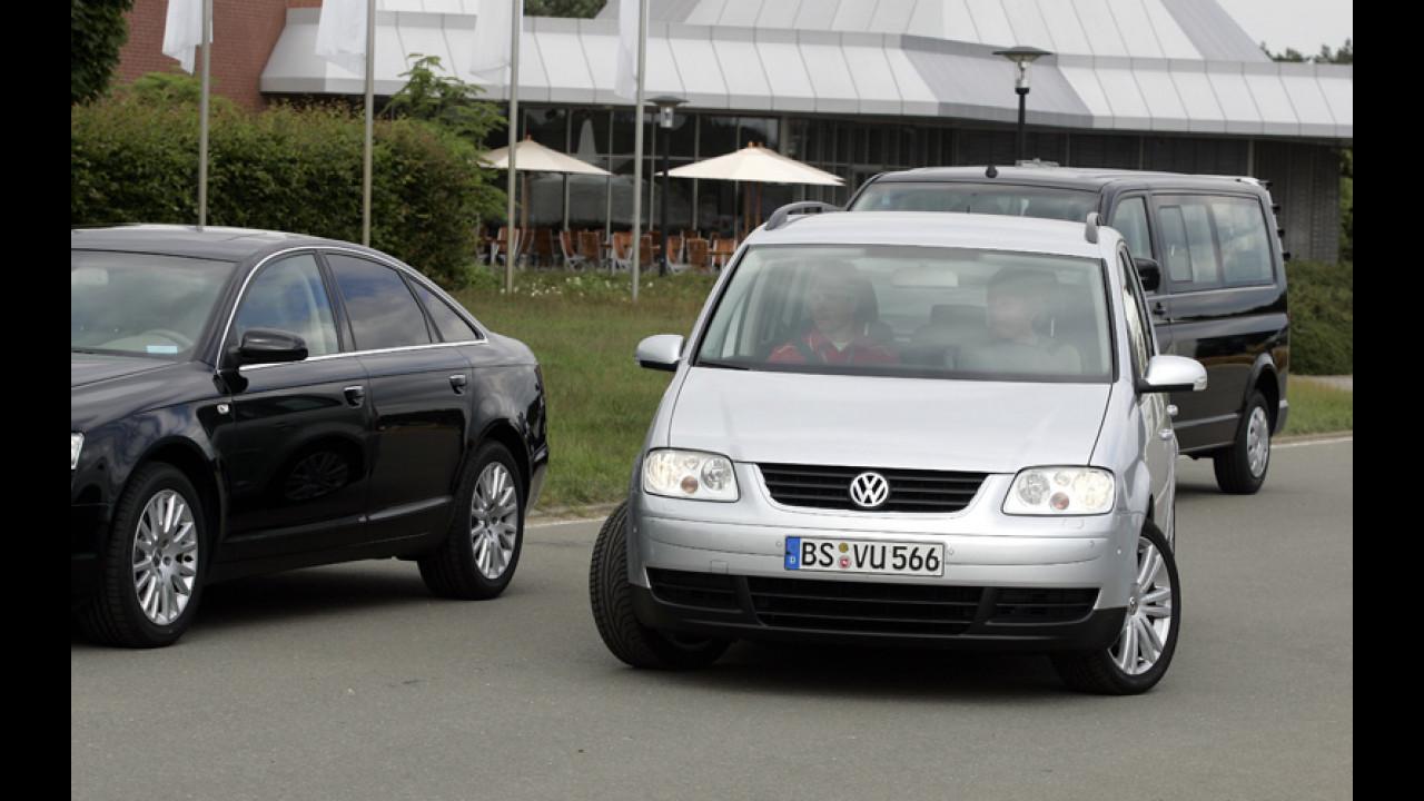 La Touran con l'assistente di parcheggio