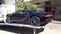 Bugatti Chiron unloaded at Monaco dealer