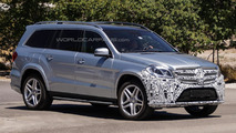 Mercedes-Benz GL-Class facelift spied testing in United States