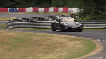 Porsche Taycan Quietly Making Rounds At The 'Ring Again